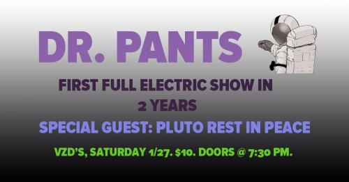 Dr. Pants is a rock band that combines nerd culture and 90's alternative influences to entertain audiences